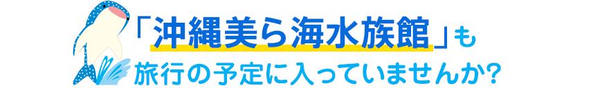 沖縄美ら海水族館も旅行の予定に入ってませんか?